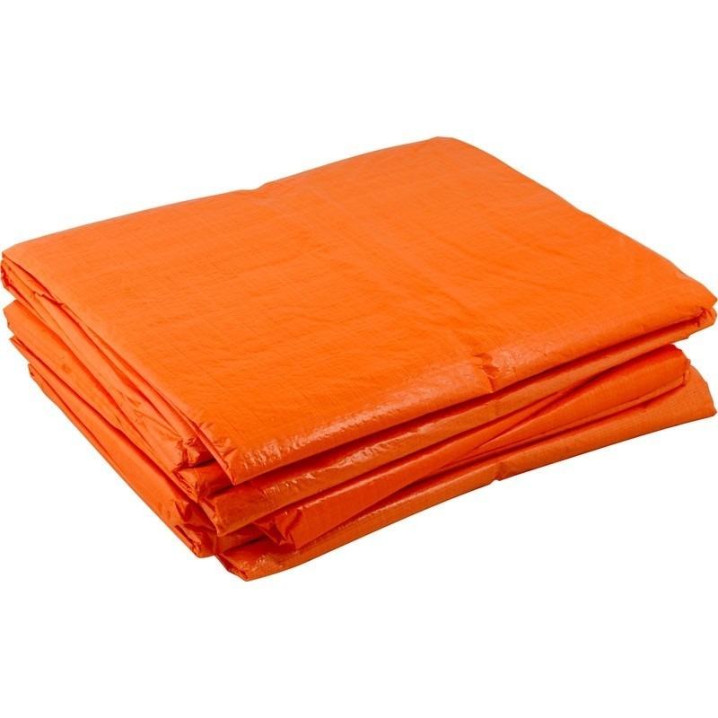 Oranje afdekzeil dekkleed 8 x 12 m
