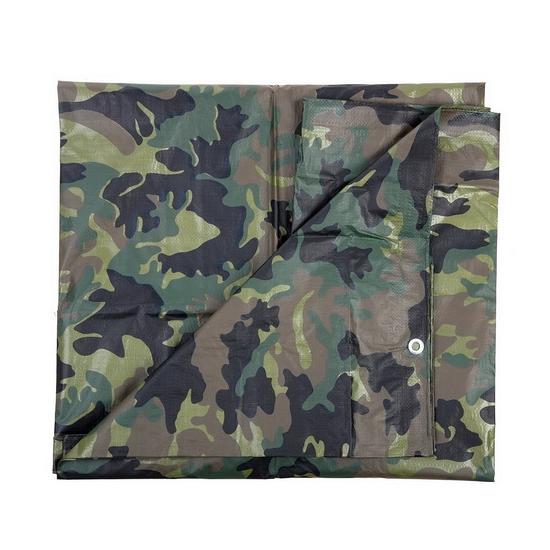 Groene camouflage afdekzeil dekkleed 1 9 x 3 m