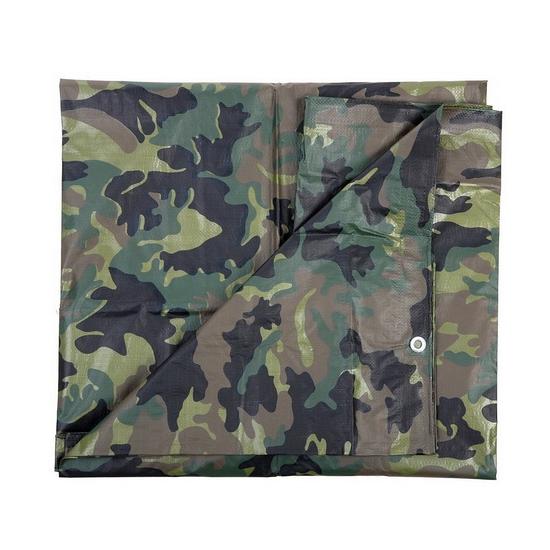 Groene camouflage afdekzeil dekkleed 2 85 x 4 m