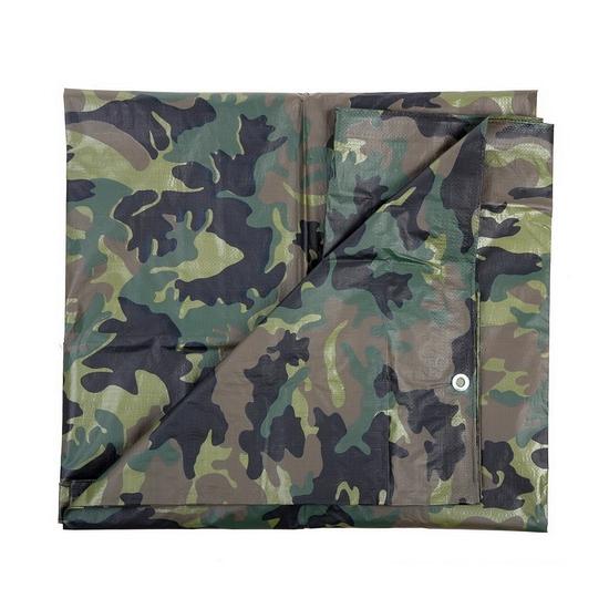 Groene camouflage afdekzeil dekkleed 5 x 6 m