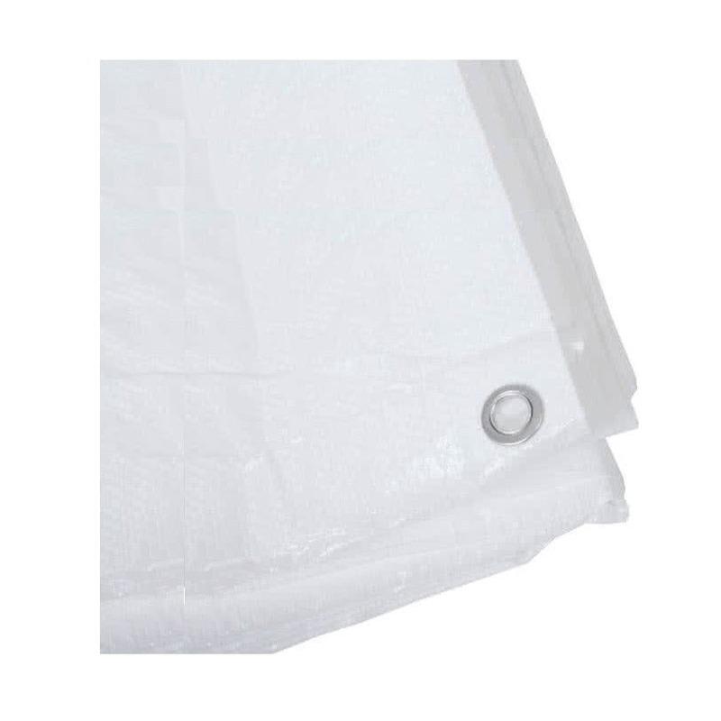 Hoge kwaliteit afdekzeil dekzeil wit 4 x 5 meter