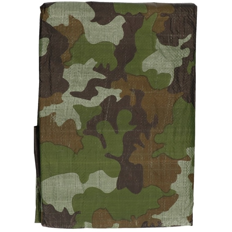 Groene camouflage afdekzeil dekkleed 2 x 3 m