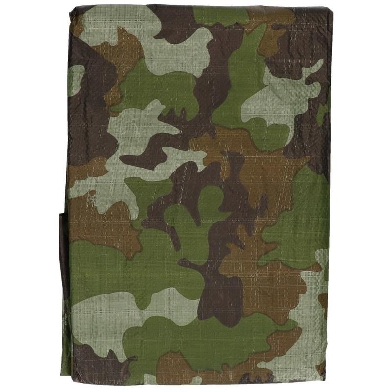 Groene camouflage afdekzeil dekkleed 470 x 364 cm