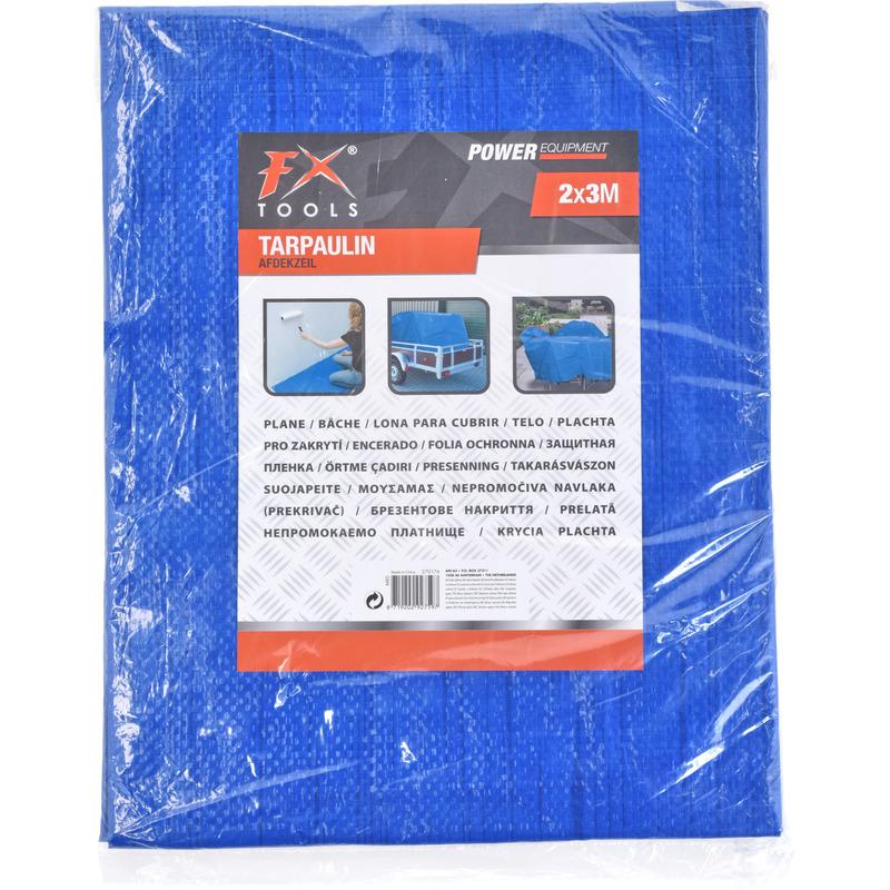 2x afdekzeil grondzeilen blauw 200 x 300 cm