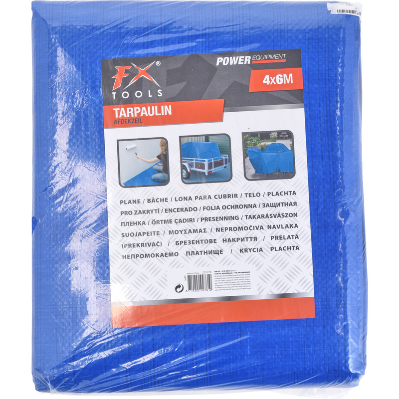 2x afdekzeil grondzeil blauw 400 x 600 cm