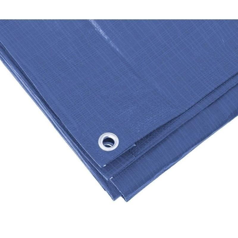 2x hoge kwaliteit afdekzeilen dekzeilen blauw 6 x 8 meter