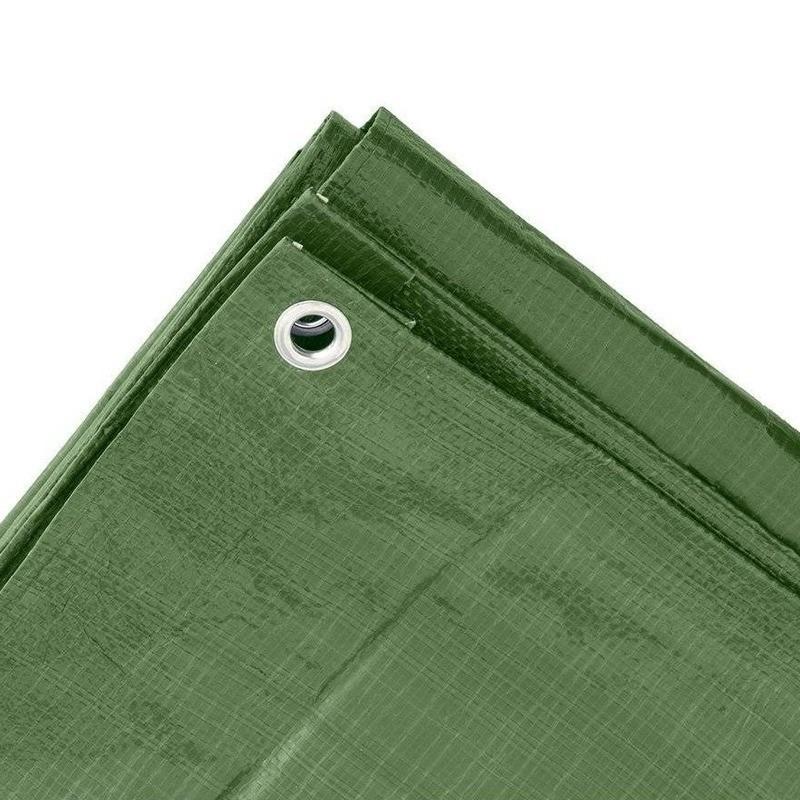 2x groene afdekzeilen dekkleden 8 x 12 m