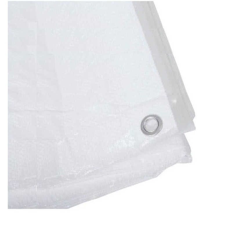 2x witte afdekzeilen dekkleden 6 x 10 m