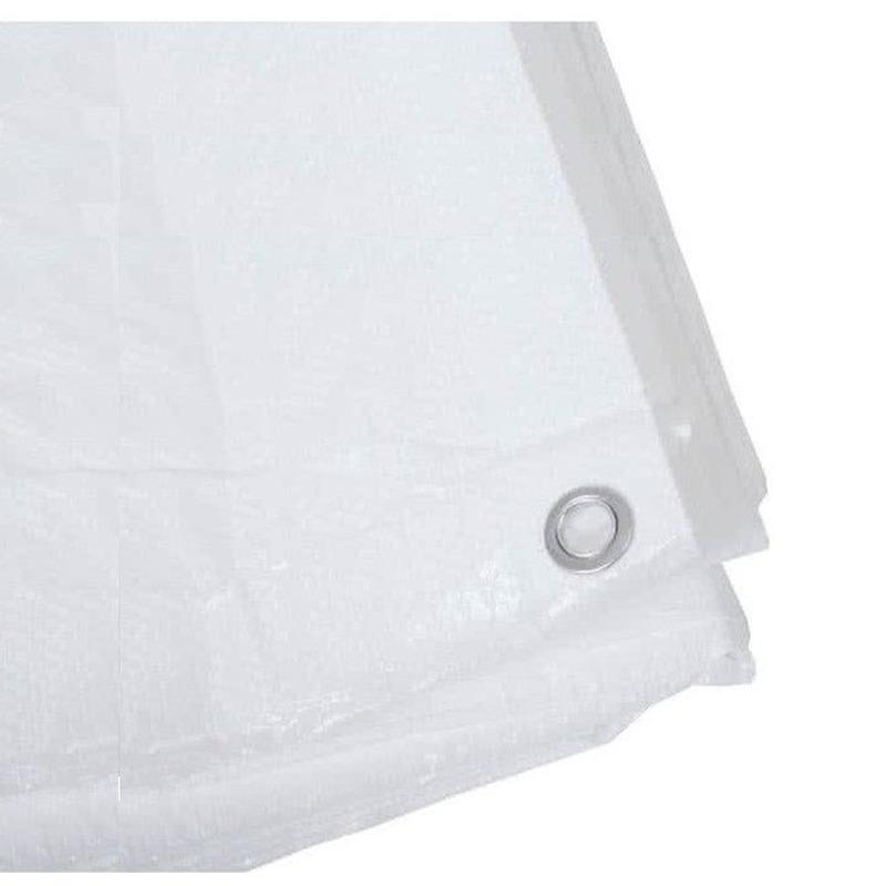 2x wit afdekzeilen dekkleden 8 x 10 m