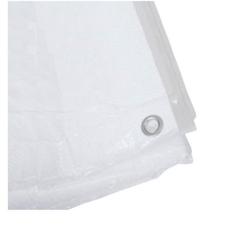 2x witte afdekzeilen dekkleden 8 x 12 m
