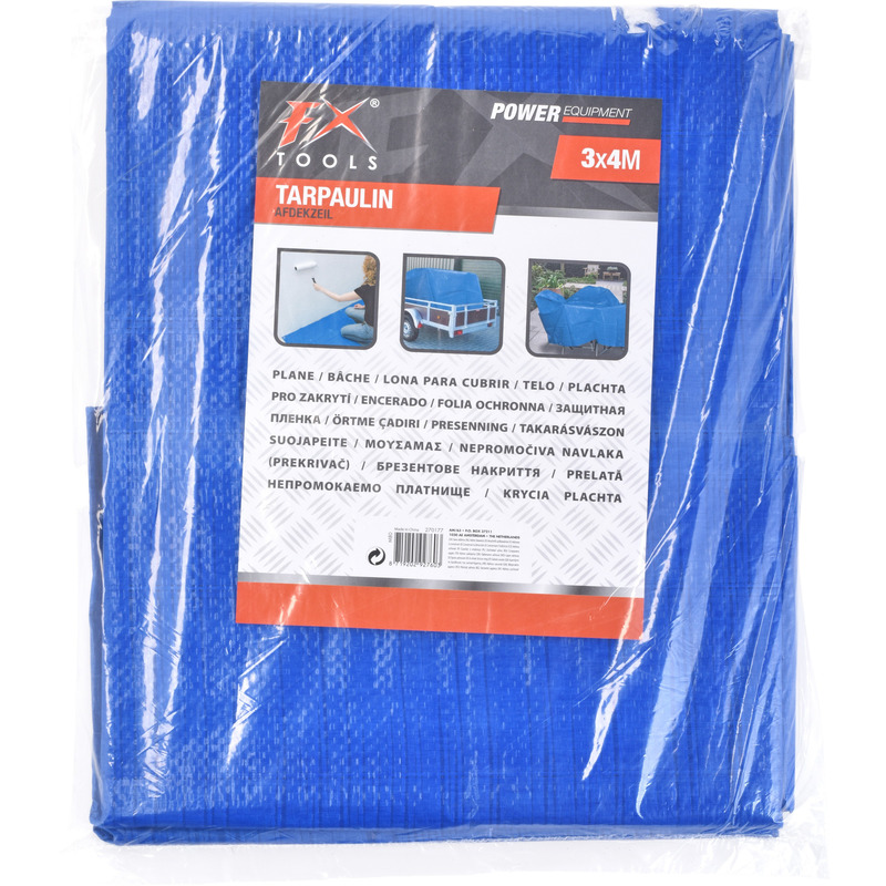 3x afdekzeil grondzeil blauw 300 x 400 cm