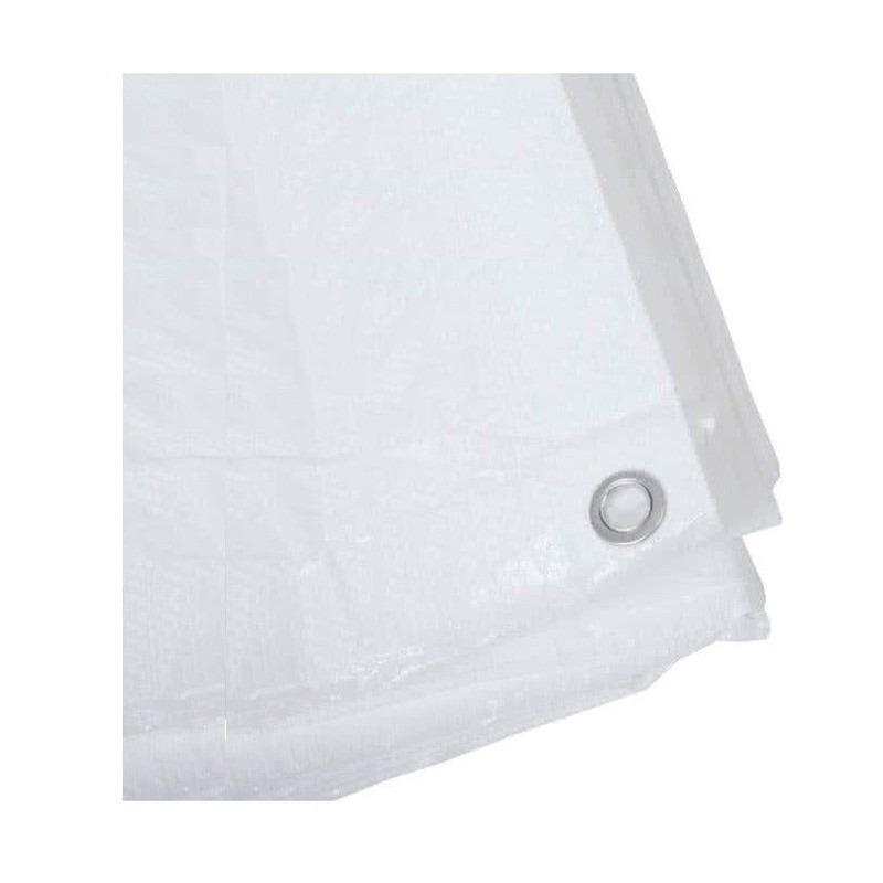 4x stuks hoge kwaliteit afdekzeil dekzeil wit 2 x 3 meter
