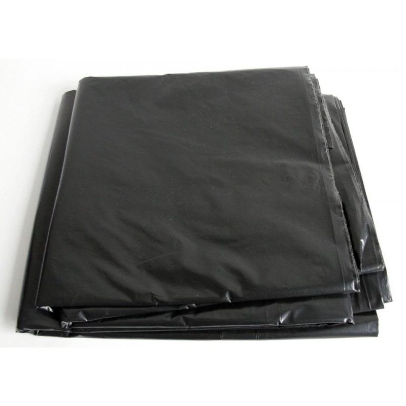 4x hoge kwaliteit afdekzeil dekzeil zwart 4 x 6 meter