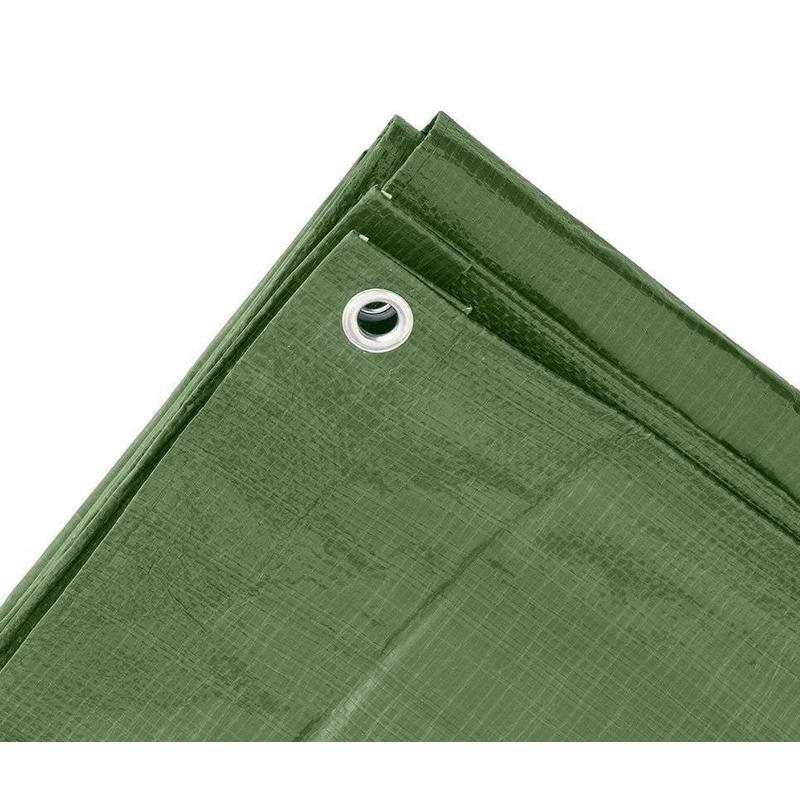 Set van 4x stuks hoge kwaliteit afdekzeil dekzeil groen 2 x 3 meter